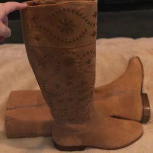 🌟 EUC 🌟 Jack Rogers Boots, tan suede, size 8.5m.